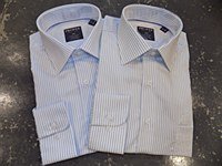 Summerfields Long Sleeve Banker Stripe Dress Shirt