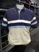 Banded Bottom Shirt Co. Colour Block Polo