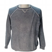 FX Fusion Contrast Stitch Sweater - CEMENT,SAGE,BLUE