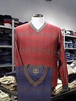 FX Fusion Windowpane V-Neck Sweater