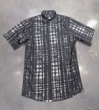 Jon Randall Black Ocerprint Short Sleeve Shirt
