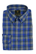 FX Fusion Royal Check Long Sleeve Sport Shirt