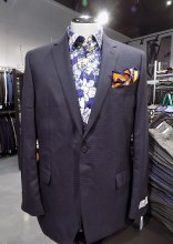 Eisenberg Navy Checked Sport Coat