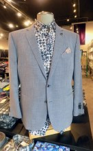 2205 Ink Diagonal-Weave Sport Coat