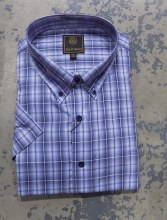 FX Fusion Soft Plaid Short Sleeve Sport Shirt