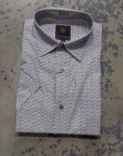 FX Fusion Square Print Short Sleeve Sport Shirt