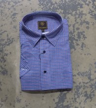 FX Fusion Textured Mini Check Short Sleeve Sport Shirt