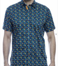 Luchiano Visconti Surfs Up Short Sleeve Sport Shirt