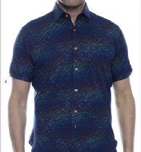 Luchiano Visconti Tribal Short Sleeve Sport Shirt