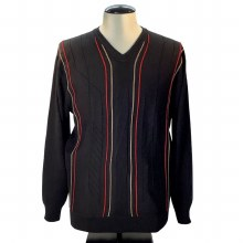 FX Fusion Knit Sweater - Black,Cobalt