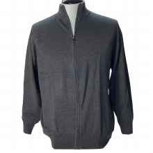 FX Fusion Full Zip Mock Neck Sweater.Black,Charcoal