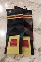 Vannucci Argyle Mercerized Cotton Sock