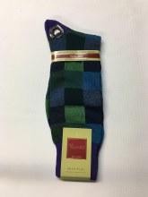 Vannucci Checkered Mercerized Cotton Sock