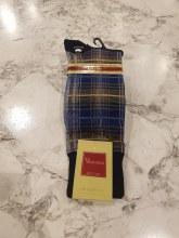 Vannucci Plaid Mercerized Cotton Sock
