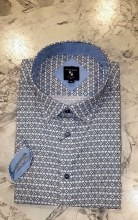 Big & Tall Milano Mosaic Short Sleeve Sport Shirt