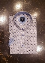 Big & Tall Milano Geometric Short Sleeve Sport Shirt