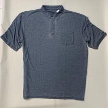 Indigo Smith Vintage Polo Shirt-Blue,Grey
