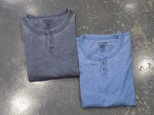 Indygo Smith Vintage Short Sleeve Henley Shirt