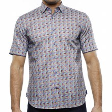 Luchiano Visconti Floral Short Sleeve Shirt