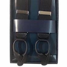 Summerfields Leather End Suspenders - Black