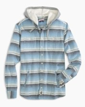 Johnnie-O Button Front Hoodie Jacket Shirt