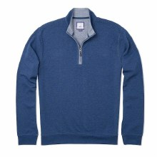 Johnnie-o 1/4 Zip Pullover, - 2 Colours, Blue Heather, Malibu Red