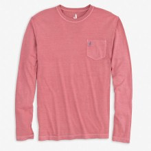 Johnnie-O Long Sleeve Pocket Tee- 3 Colours, Red,Blue,Silver
