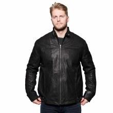 Cafe Racer Styled Leather Jacket