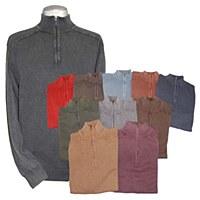 F/X Fusion 1/4 Zip Sandwash Mock Knit Sweater XLT