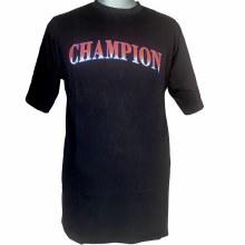 Champion Black Script Tee