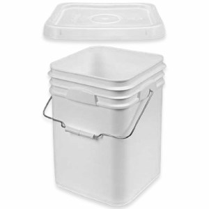 4 Gallon Bucket w Lid Square