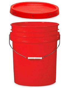5 Gallon Bucket W/ Lid (Black)