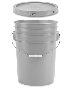 6 Gallon Bucket w/ Lid (Grey)