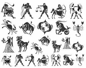 Zodiac Decals Black