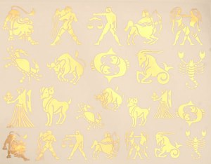 Gold Luster Decal, Zodiac