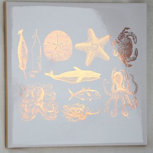Gold Luster Decal, Sea Life