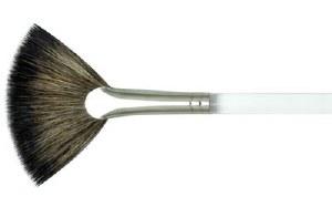Aqualon Natural Fan Brush 10