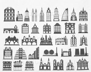 Architecture Decals Black