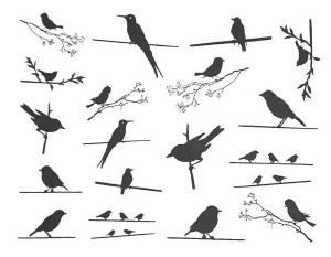 Birds on the Wire Decals Black