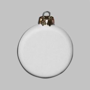 """Bisque Ornament 3"""" Flat Round"""
