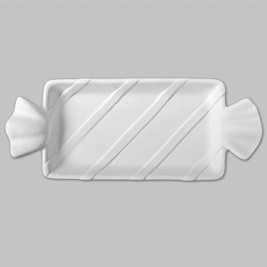 Bisque Wrapped Candy Dish