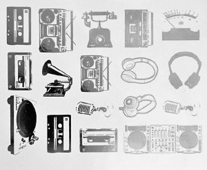 Boomboxes Decals White