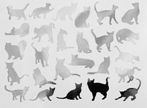 Cats Decals Black