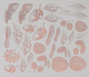 Copper Luster Decal, Autumn