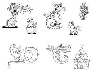 Cute Dragons Silk Screen
