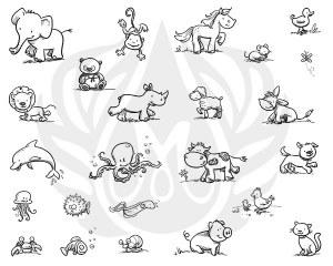 Cutesy Animals Silk Screen