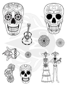 Day of the Dead Silk Screen