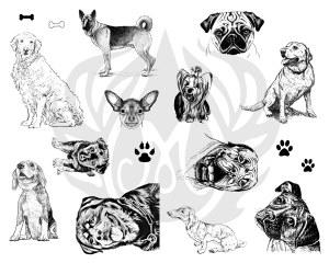 Dogs Silk Screen