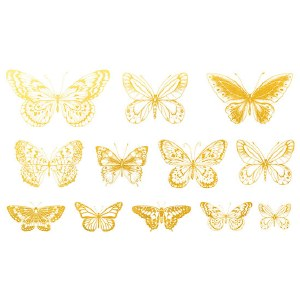 Gold Luster Butterfly 1