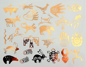 Copper Luster Decal, Animals